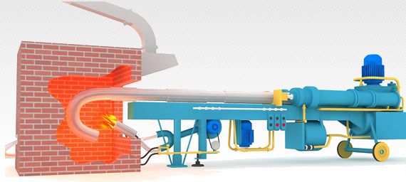 Elbow hot forming machine